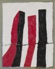 Dean Tavoularis, huile et acrylique sur toile, executée en 2002, signée en bas à droite, 30x40 cm.