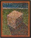 Dean Tavoularis, acrylique sur toile, exécutée en 2005, signée en bas à droite, 81x100 cm.