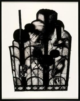 Jacques Louis Vidal, Human Midnight, 2010, Aquarelle sur papier, 61 x 81.3 cm.