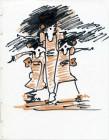 Dessin au feutre, 1990.