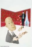 Jean-Denis Malclès, Original de la couverture pour Patate, de Marcel Achard. Éditions Livre de poche.