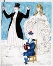 Jean-Denis Malclès, original de la couverture pour Le boulanger, la boulangère et le petit mitron. Jean Anouilh Éditions Folio.