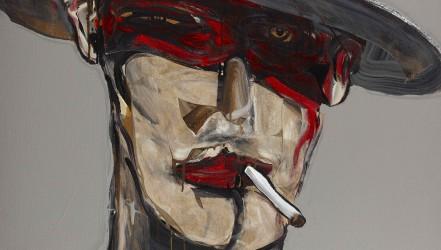 Nicolas Vial, acrylique sur toile, exécutée en 2009, datée et signée en bas à droite, 130x97 cm.