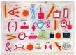"""Bernard Quentin, """"Le travail"""", exécuté en 2010, impression acrylique sur acétate, 21 x 29 cm."""