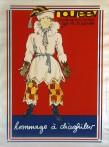 """Sérigraphie pour """"Hommage à Diaghielev"""", costume de Petrouchka, 1970."""