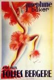 """Michel Gyarmaty, estampe pour """"Joséphien Baker est aux Folies Bergères"""" en 1936."""