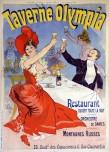 """Jules Chéret, estampe pour """"La Taverne Olympia"""" en 1899."""