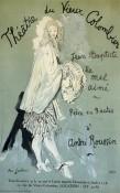 """Jean Cocteau, estampe pour """"Jean-Baptiste le mal aimé"""" d'André Roussin au Théâtre du Vieux Colombier en 1945."""