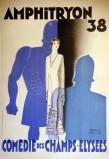 """Paul Colin, estampe pour """"Amphitryon"""" 38ème pièce sur ce thème à la Comédie des Champs-Elysées en 1929."""