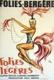 """O'Kley, estampe pour """"Folies Légères"""" Super Revue de Michel Gyarmathy aux Folies-Bergères en 1958."""