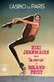 """Jean-Paul Goude, estampe pour """"La Revue"""" de Roland Petit avec Zizi Jeanmaire au Casino de Paris en 1980-1981."""