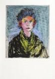 """Jim Dine Nancy outside in July XVIII Atelier Crommelynck, 1981 Photogravure, aquatinte, ponceuse eléctrique, réhaussée en couleurs à la main, signée, datée et numérotée """"3/15"""" 65,3 x 93,4 cm"""