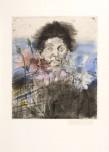 Jim Dine Nancy outside in July VI Atelier Crommelynck, 1979 Pointe sèche, aquatinte, eau-forte et ponceuse eléctrique, signée et datée 66,7 x 111,8 cm