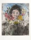 """Jim Dine Nancy outside in July VII Atelier Crommelynck, 1980 Pointe sèche, aquatinte et ponceuse eléctrique réhaussée à la main à l'aquarelle, signée, datée et numérotée """"3/25"""""""