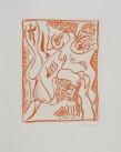 André Masson Numéro de réfèrence 129, Eau-forte et aquatinte signée, Epreuve d'artiste 40 x 51,5 cm