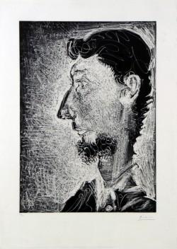 Picasso «Piero Crommelynck» 1966, aquatinte et eau-forte sur cuivre. © Succession Picasso 2012