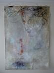 Le travesti, 2011 Techniques mixtes sur papier coréen 210 x 145 cm