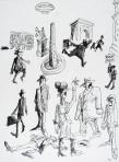Ettore Scola, 088, dessin original à l'encre de chine, non daté, signé, 21x29.7cm.