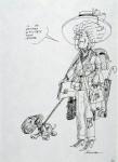 Ettore Scola, 36, dessin original à l'encre de chine, non daté, signé, 21x29.7cm.