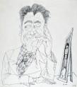 Ettore Scola, 173, dessin original à l'encre de chine, non daté, signé, 21x29.7cm.