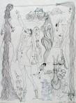 Ettore Scola, 015, dessin original à l'encre de chine, non daté, signé, 36x48cm.