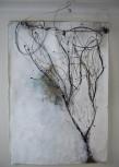L'arbre, 2011 Techniques mixtes sur papier coréen 210 x 145 cm