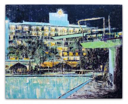 Enoc Perez, Hotel San Juan, Puerto Rico, 2004, huile sur toile, 182,9 x 228,6 cm
