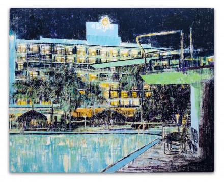 Enoc Perez, Hotel San Juan, Isla Verde, Puerto Rico, 2004, Huile sur toile, 182,9 x 228,6 cm