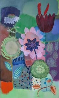 Catherine Starkman, Huile sur toile 173 x103 cm