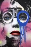 Composition photographique : Jérôme Revon Street-Artist : Dain ORTHOMETRY BLEU Brooklyn, 2014, Tirage unique sur papier métallique contrecollé sous diasec, 135 x 90 cm
