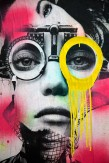 Composition photographique : Jérôme Revon Street-Artist : Dain ORTHOMETRY JAUNE Brooklyn, 2014, Tirage unique sur papier métallique sous diasec, 135 x 90 cm