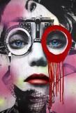 Composition photographique : Jérôme Revon Street-Artist : Dain ORTHOMETRY ROUGE Brooklyn, 2014, Tirage unique sur papier métallique contrecollé sous diasec, 125 x 187,5 cm