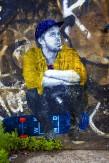 Composition photographique : Jérôme Revon Street-Artist : Inconnu CAP RIDER Brooklyn, 2014 ,Tirage unique sur papier métallique contrecollé sous diasec, 135 x 90 cm
