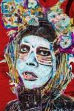 Composition photographique : Jérôme Revon Street-Artist : Judith Supine HEADBAND Brooklyn, 2014, Tirage unique sur papier métallique contrecollé sous diasec, 135 x 90 cm