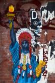 Composition photographique : Jérôme Revon Street-Artist : Miss Me BLUE LIBERTY Brooklyn,, 2014, Tirage unique sur papier métallique contrecollé sous diasec, 135 x 90 cm