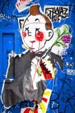 Composition photographique : Jérôme Revon Strret-Artist : Stikki Peaches TINTIN, Bushwick, 2014, Tirage unique sur papier métallique contrecollé sous diasec, 135 x 90 cm