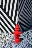 Jérôme Revon BLACK & WHITE RED Tribute to JonOne Miami, 2014, Tirage unique sur papier métallique contrecollé sous diasec, 135 x 90 cm