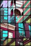 Jérôme Revon, Palazzo Chupi II, NYC Hudson River / Madonna / Julian Schnabel, 2013, Tirage unique sur papier métallique contrecollé sous diasec découpé, 180 x 120 cm