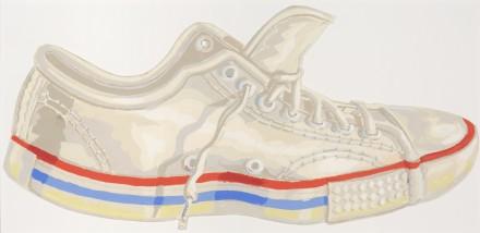 Don Nice, Sneaker cut-out, 1978 Gouache sur carton 22,5 x 47,5 cm