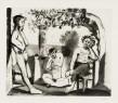 Pablo Picasso Bacchanales, 1963 Atelier Crommelynck Aquatinte en couleurs sur papier vélin de Rives, signée au crayon et numérotée 56 x 76 cm