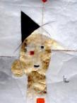 Jean Ardoise L'ours et l'hélium, 2014 Fusain, pastel, encre et gouache sur papier 149 x 107 cm