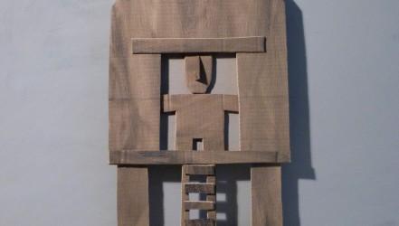Autoportrait Carton et acrylique 120 X 90 CM