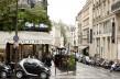 Vue de l'immeuble du 15, rue Saint-Benoît 75006 Paris depuis le Boulevard Saint-Germain