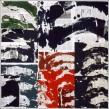 Gérard Titus-Carmel Jungles - Dessin n°6, 2004 Acrylique sur papier journal marouflé sur carton 100 x 100 cm