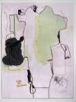 Jean-Michel Alberola Icône des populations, 2003 Gouache sur papier 120 x 80 cm Reproduit dans «Le seul état de mes idées», Jean-Michel Alberola, éditions Ereme, 2006