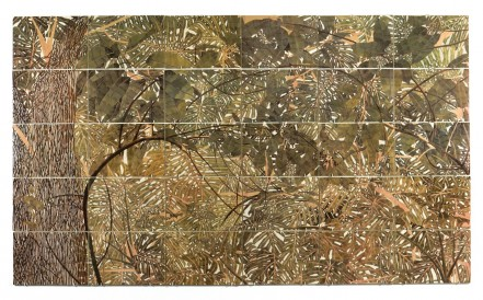 Sam Szafran MURAL, 2015 30 plaques émaillées, 140 x 240