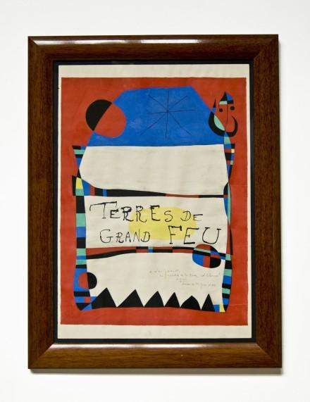 """Joan Miro, """"Terre de Grand Feu"""", 1956, Gouache sur papier, 75 x 52,5 cm"""