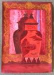 Marie Hugo Vase, 2015 Pigments sur Arche 62 x 44 cm